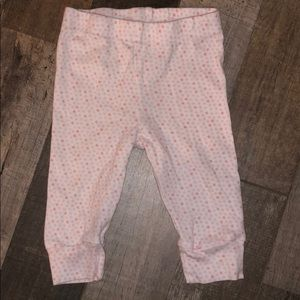 White leggings with pink tiny flowers